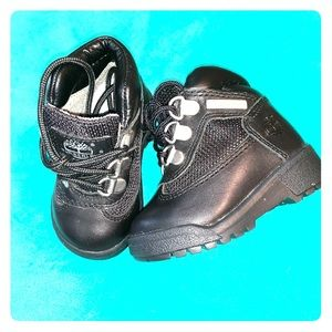 Black baby Timberland boots